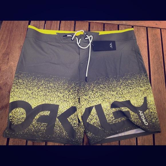 Oakley Other - Men's Oakley Bathing Suit grey/yellow size 36